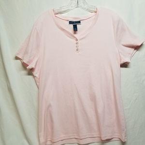 Karen Scott Pink Vneck Short sleeve XL Tshirt